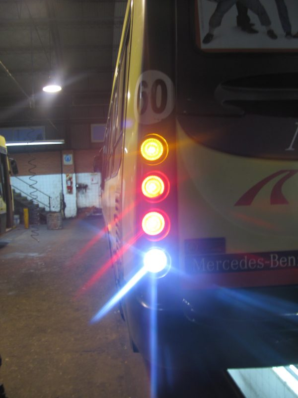 Reemplazo a leds en faros traseros transporte público Solutronic