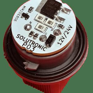 Portalámpara electrónico P03 3 leds Solutronic Faros de culata R04 850 930 1800 1820